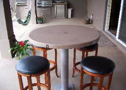 Concrete Tables Bistro Tiki Bar Barbecue Florida Cement